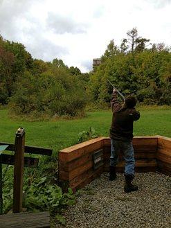 Mr. Sportsman shoots clay pigeons